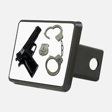 PoliceBadgeGunHandcuffs090 Hitch Cover