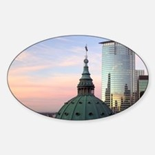 Mary Queen of the World Cathedral d Sticker (Oval)