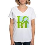 LGBT Tropo Pop Women's V-Neck T-Shirt