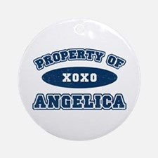 """""""Property of Angelica"""" Ornament (Round)"""