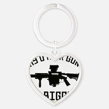 MY_OTHER_GUN_blk-2 Heart Keychain