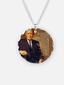 Eisenhower Every Gun round Necklace