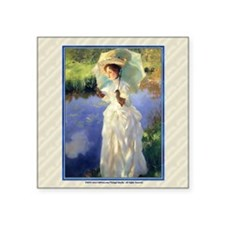 "1 JAN SARGENT MorningWalk Square Sticker 3"" x 3"""