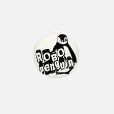 roboPenguinWhite Mini Button