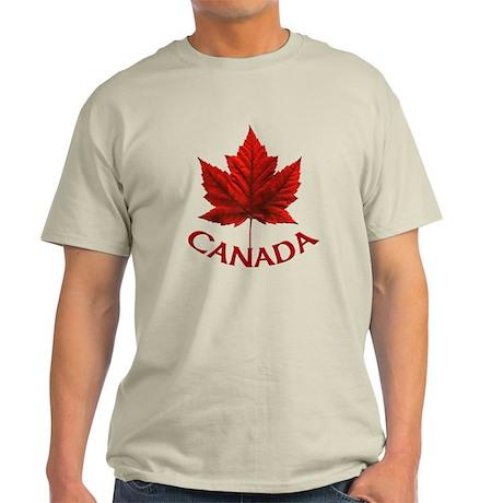 Canada Souvenir Light T-Shirt Canadian Maple Leaf