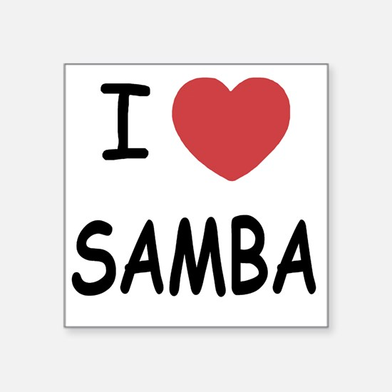 "SAMBA Square Sticker 3"" x 3"""