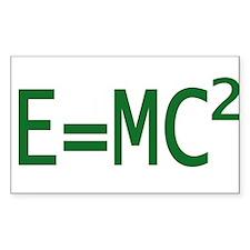 E=MC2 Rectangle Decal