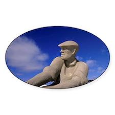Fishermen statue, Iles de la Madele Decal
