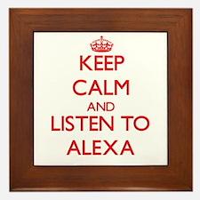 Keep Calm and listen to Alexa Framed Tile