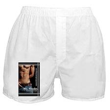 Bookplate_black_forsticker_whitestrip Boxer Shorts