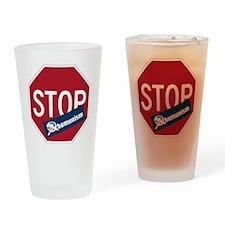 Stop Obamunism Drinking Glass