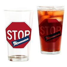 Stop Obamunism back Drinking Glass