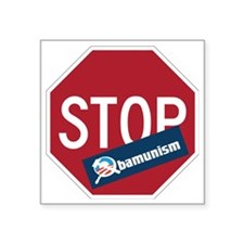 "Stop Obamunism back Square Sticker 3"" x 3"""
