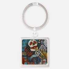 NEW dead PRINT Square Keychain