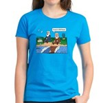 Fishing With Moses Women's Blue T-Shirt