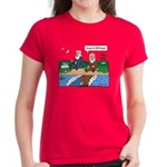 Fishing With Moses Women's Red T-Shirt