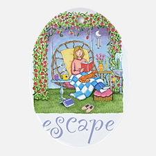 Print-ESCAPE-3 Oval Ornament