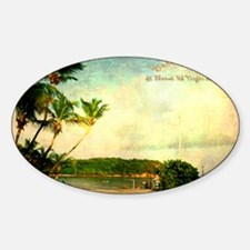 Bolongo bay st thomas us vi Sticker (Oval)