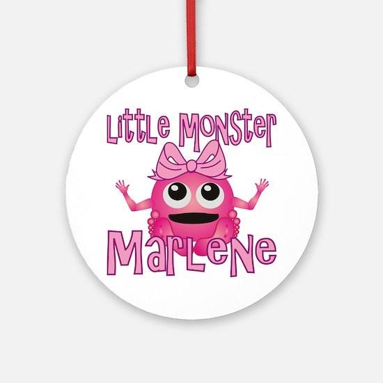 marlene-g-monster Round Ornament