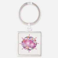 cancer5 Square Keychain