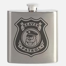 Beaver Patrol Flask