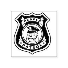 "Beaver Patrol Square Sticker 3"" x 3"""