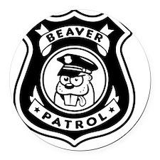 Beaver Patrol Round Car Magnet