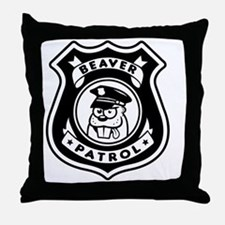 Beaver Patrol Throw Pillow
