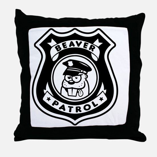 Beaver Patrol Throw Pillow