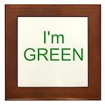 Im green Framed Tile