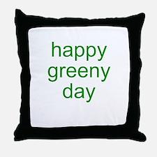 happy greeny day Throw Pillow
