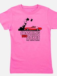 Crashing Into Boxes Girl's Tee