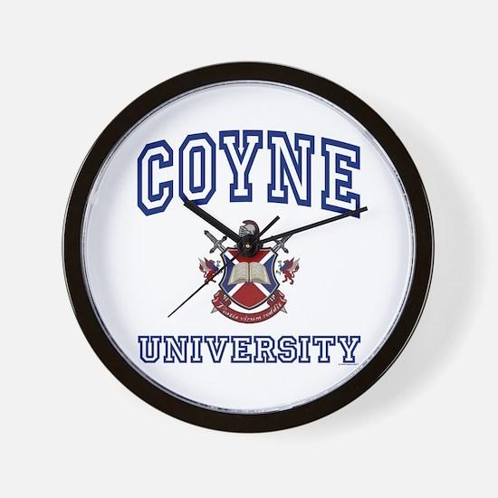 COYNE University Wall Clock