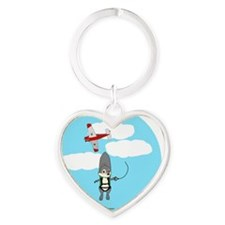 bad day 2 Heart Keychain