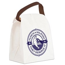 Punch A Dolphin Canvas Lunch Bag