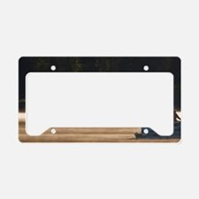 Photographing common loonsear License Plate Holder