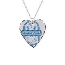 Balls Of Steel Necklace Heart Charm