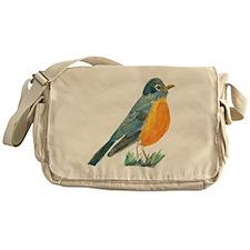 red robin transparent Messenger Bag