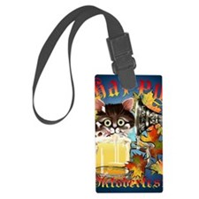 Happy Oktoberfest Kitty PosterP Luggage Tag