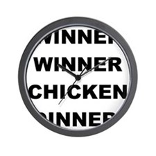 2000x2000winnerwinnerchickendinner Wall Clock