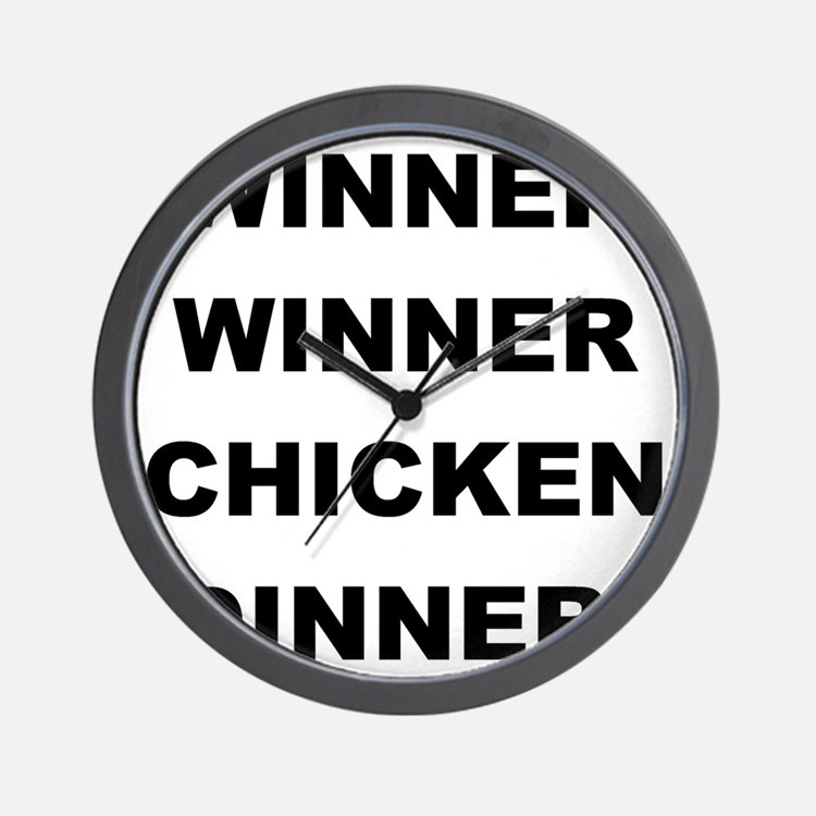 2000x2000winnerwinnerchickendinner Wall Clock