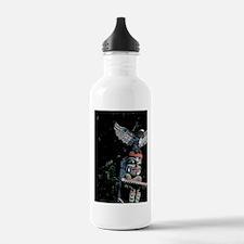 Totem pole with eagleb Water Bottle
