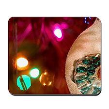 Christmas tree ornaments. Mousepad