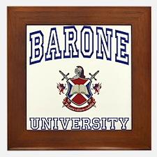 BARONE University Framed Tile