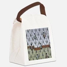 raining penguins Canvas Lunch Bag