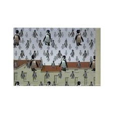 raining penguins Rectangle Magnet