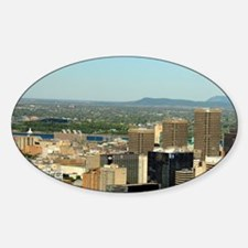 Montreal. City overview from Mount  Sticker (Oval)