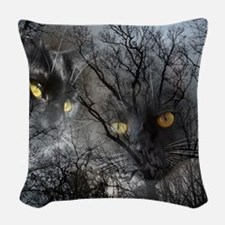 Enchanted forest Woven Throw Pillow