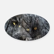 Enchanted forest Oval Car Magnet