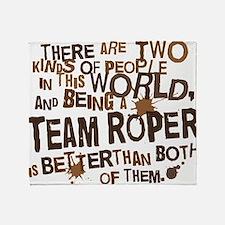 team_roper_brown Throw Blanket